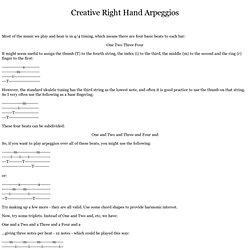 Fingerstyle Uke - ukulele lessons - arpeggios