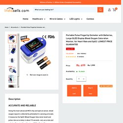 4 Color Fingertip Pulse Oximeter