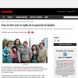 Pour en finir avec le mythe de la pauvreté du Québec