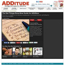 The Get-It-Done Guide for ADHDers