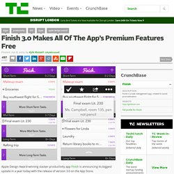 Finish 3.0 Makes All Of The App's Premium Features Free