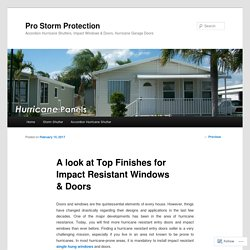 Top Finishes for Impact Resistant Windows & Doors