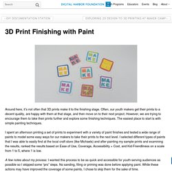 3D Print Finishing with Paint - Digital Harbor Foundation