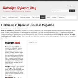 FinishLine in Open for Business Magazine