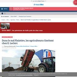Dans le sud Finistère, les agriculteurs s'invitent chez E. Leclerc