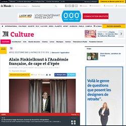 Alain Finkielkraut à l'Académie française, de cape et d'épée