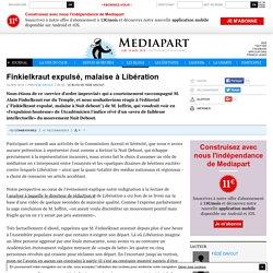 Finkielkraut expulsé, malaise à Libération