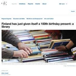 Finland has just given itself a 100th birthday present: a library