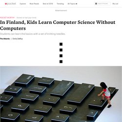 In Finland, Kids Learn Computer Science Without Computers