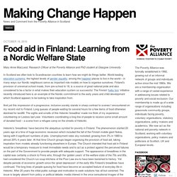 Food aid in Finland: Learning from a Nordic Welfare State