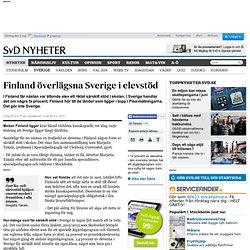 Finland överlägsna Sverige i elevstöd