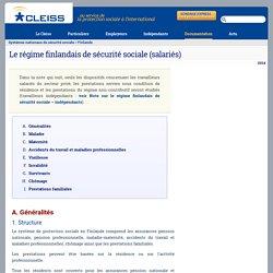 Le régime finlandais de sécurité sociale (salariés)