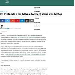 En Finlande : les bébés dorment dans des boîtes