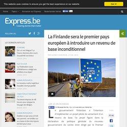 La Finlande sera le premier pays européen à introduire un revenu de ba...