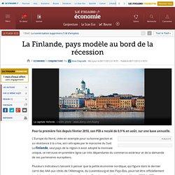 La Finlande, pays modèle au bord de la récession