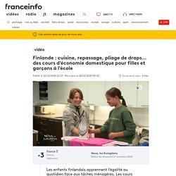 Finlande : cuisine, repassage, pliage de draps... des cours d'économie domestique pour filles et garçons à l'école