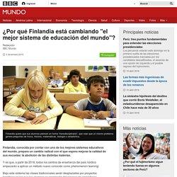 """¿Por qué Finlandia está cambiando """"el mejor sistema de educación del mundo""""? - BBC Mundo"""