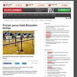 Finnair peruu lisää Brysselin-lentoja
