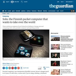 Solu: the Finnish pocket computer that wants to take over the world