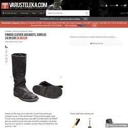 Finnish leather jackboots, surplus - Varusteleka.com