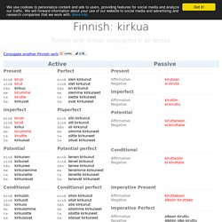 Finnish verb kirkua conjugated in all tenses.