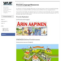 Finnish Language Resources - What's Up Finland? English