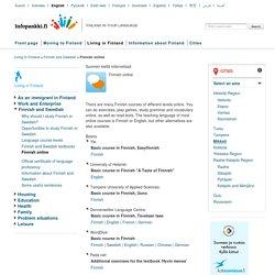 Finnish online - Infopankki