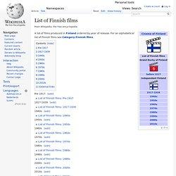 List of Finnish films