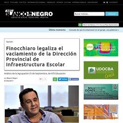 Finocchiaro legaliza el vaciamiento de la Dirección Provincial de Infraestructura Escolar