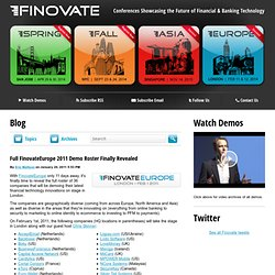 Full FinovateEurope 2011 Demo Roster Finally Revealed