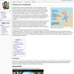 Finska och meänkieli - Skolbok