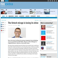 The fintech mirage is losing its shine