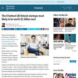 UK fintech startups worth $1 billion - Business Insider