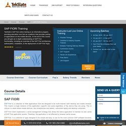 SAP Fiori Training Program