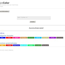 FipsColor : analyse grammaticale automatique
