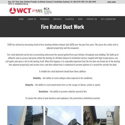Fire Rated Duct Work