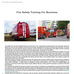 Fire Safety Training For Business