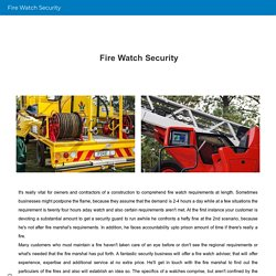 Fire Watch Security
