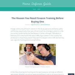 The Reason You Need Firearm Training Before Buying One