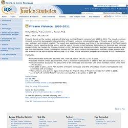 Firearm Violence, 1993-2011