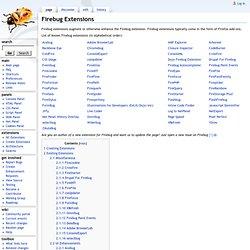 Firebug Extensions