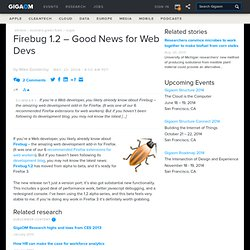 Web Worker Daily » Archive Firebug 1.2 - Good News for Web Devs