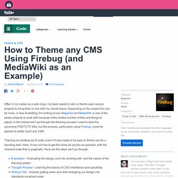 How to Theme any CMS Using Firebug (and MediaWiki as an Example)