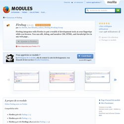 Firebug :: Modules pour Firefox