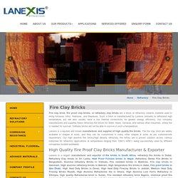 Fire Clay Bricks, Fireclay Brick Manufacturers, Fire bricks supplier, India
