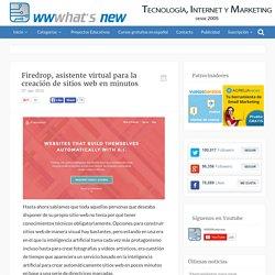 Firedrop, asistente virtual para la creación de sitios web en minutos