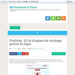 FireDrop : 10 Go d'espace de stockage gratuit en ligne