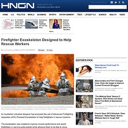 Firefighter Exoskeleton Designed to Help Rescue Workers : Tech
