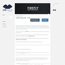 Firefly Jquery Plugin