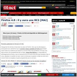 Firefox 4.0 : il y aura une RC2